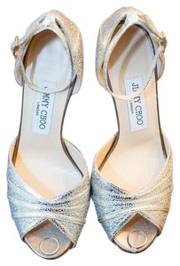 Jimmy Choo Silver- gold Platforms