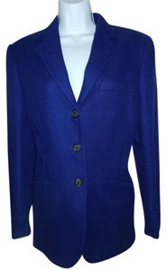 Ralph Lauren Office Attire Winter Cobalt Blue Blazer