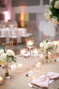 Assorted Gold And Clear Votives
