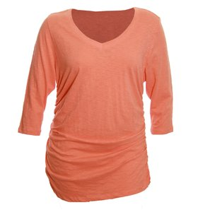 Style & Co T Shirt Orange Coral