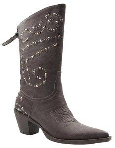 Roper Cowboy Western Studded Brown Boots