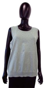Talbots Slip On Crew Neck Cotton Blend Vest Sweater