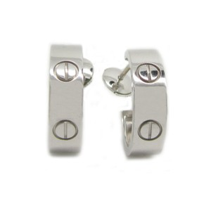 Cartier Cartier 18K White Gold Love Earrings