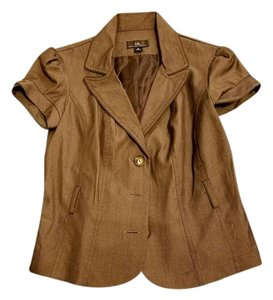 IZ Byer California Blazer Short-sleeve Jacket Cardigan