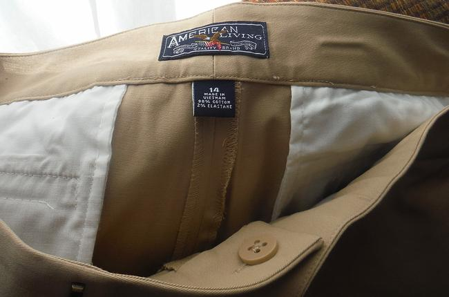 American Living Bootcut Cuffed Weekend Casual Twill Cotton Stretch Ralph Lauren Mk Coach Friday Khaki/Chino Pants Tan Beige