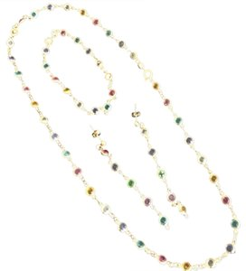 Absolutely Famous EXCLUSIVE SET OF SOLID 18K OF JEWELRY WITH GEMSTONES. VERY FEW MADE