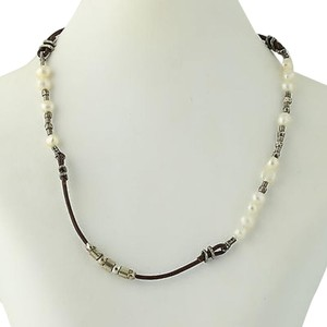 Silpada Silpada Necklace N1063 Pearls Beads Leather 16.5