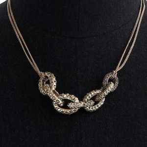 J.Crew Mixed Pave Link Pendant Necklace