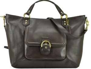 Coach Classy Simple Black Leather Shoulder Bag