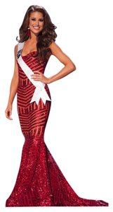 Michael Costello Gown Sequin Evening Party Dress