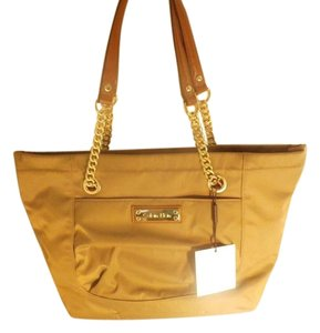 Calvin Klein Leather Tote in olive