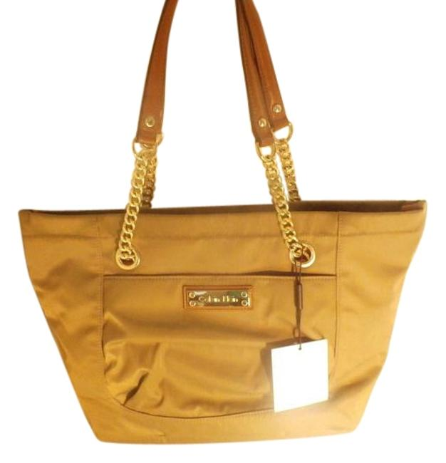 Item - Bag Green /Brown & Leather Olive Nylon Tote