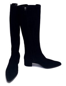 Prada Knee High Suede Black Boots