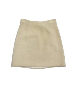 Dolce&Gabbana Pastel Yellow Wool Mini Mini Skirt