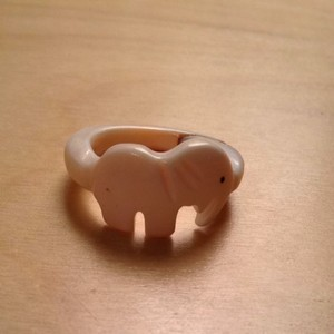 Other Elephant Jade Ring Size 7