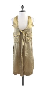 Marni short dress Gold Sleeveless Front Pocket on Tradesy