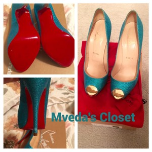 Christian Louboutin Turqoise/Blue Pumps