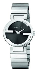 Gucci Interlocking Women's Small Version Steel Watch with Black Dial