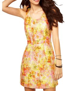 Free People Floral Brocade Metallic Dress