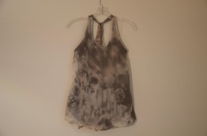 Alice + Olivia And Halter Blouses Tie-Dye Earth Tones Halter Top