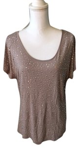 INC International Concepts Studded Top beige/silver