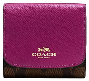 Coach Coach Small Wallet In Signature - F53837