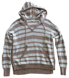 Madewell Fall Oatmeal Knitted Hooded Sweater