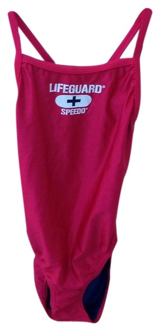 Item - Red Lifeguard One-piece Bathing Suit Size 4 (S)