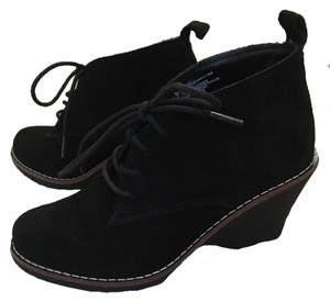 White Mountain Bootie Wedges Black Boots