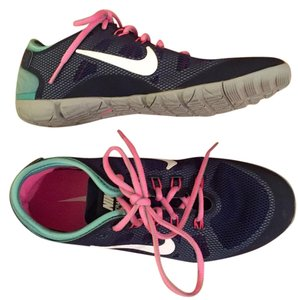 Nike Sneakers Navy with teal and pink Athletic