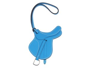Hermès Blue Hydra Paddock Saddle Bag Charm