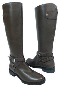 Enzo Angiolini Leather Equestrian Brown Boots