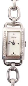Coach Silver Watch with Diamonds
