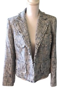 INC International Concepts Tweed blue/cream Blazer