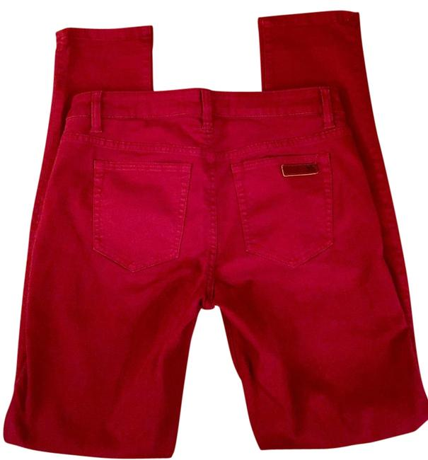 Item - Red Dark Rinse Visionaire Skinny Jeans Size 29 (6, M)