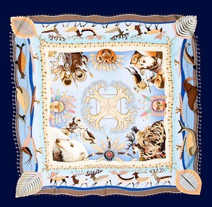 Hermès Hermes Scarf La Vie du Grand Nord New in Box with Tag