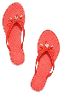 Tory Burch Flip Flops T Logo Jelly poppy orange Sandals
