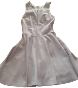 bebe White Fit and Flare Feminine Bridesmaid/Mob Dress Size 4 (S)