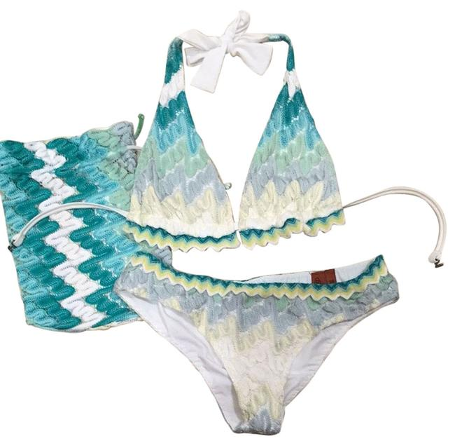 Item - Green/Yellow Swimwear European Collection Bikini Set Size 2 (XS)
