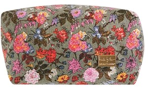 Nicole Miller Nicole Miller Canvas Floral Make-Up Bag