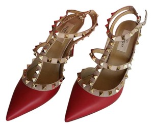 Valentino Red-Mauve Sandals
