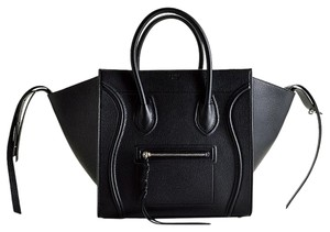 Céline Celine Luggage Phantom Tote in black