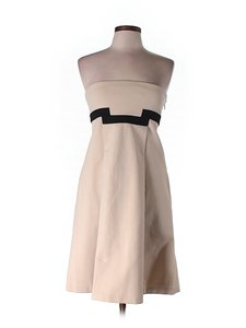 Diane von Furstenberg short dress Beige Strapless A-line on Tradesy
