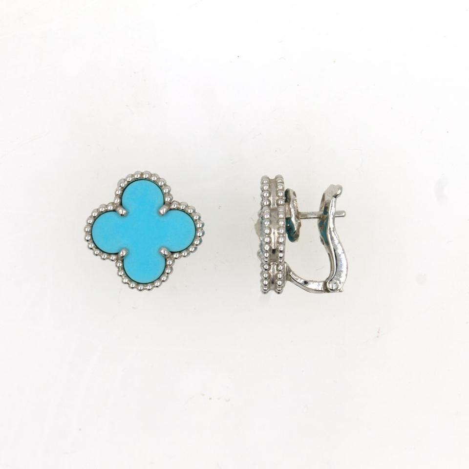 Turquoise 18k White Gold Earrings 12345