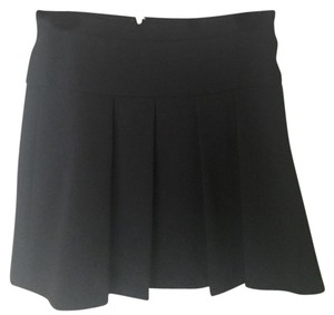 J.Crew Pleated A-line Mini Skirt Black