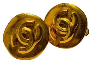 Chanel CHANEL Vintage 1996 Gold CC Logo Clip On Earrings