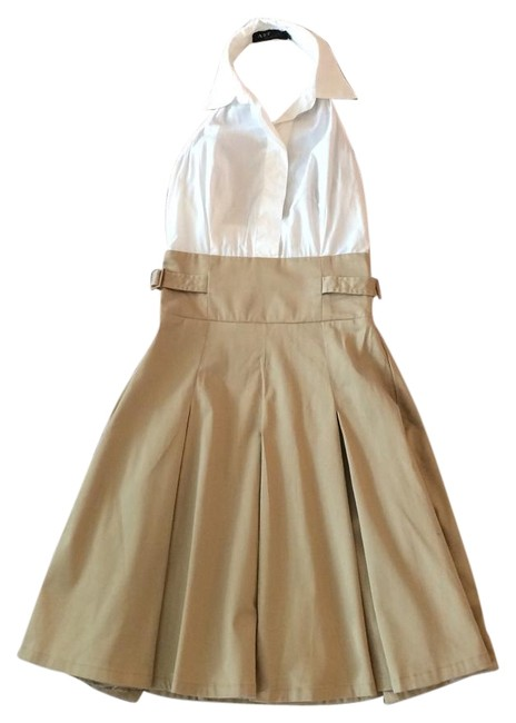 A.B.S. by Allen Schwartz short dress Tan White on Tradesy