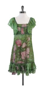 Tracy Reese short dress Green Pink Floral Chiffon on Tradesy
