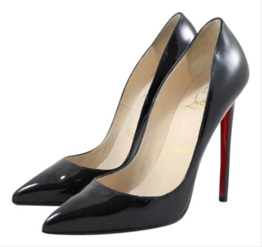 Christian Louboutin Pigalle 120mm Patent Pointed Toe Black Pumps