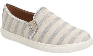 Splendid Silver Striped Canvas Athletic